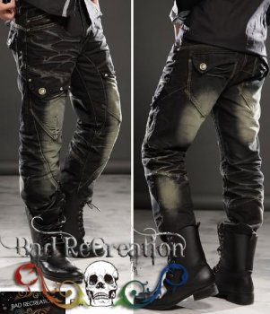 MENS DESIGNER COOL POCKET BLACK JEANS #088, View MENS JEANS ...