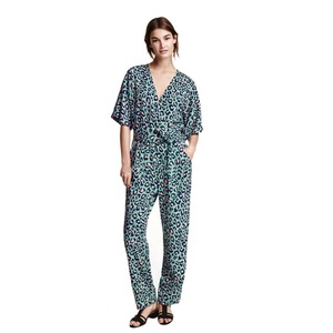 Custom 100% Rayon Jumpsuit Pattern/Rompers Jumpsuits for Women 2017/Womens Sexy Onesie Jumpsuit
