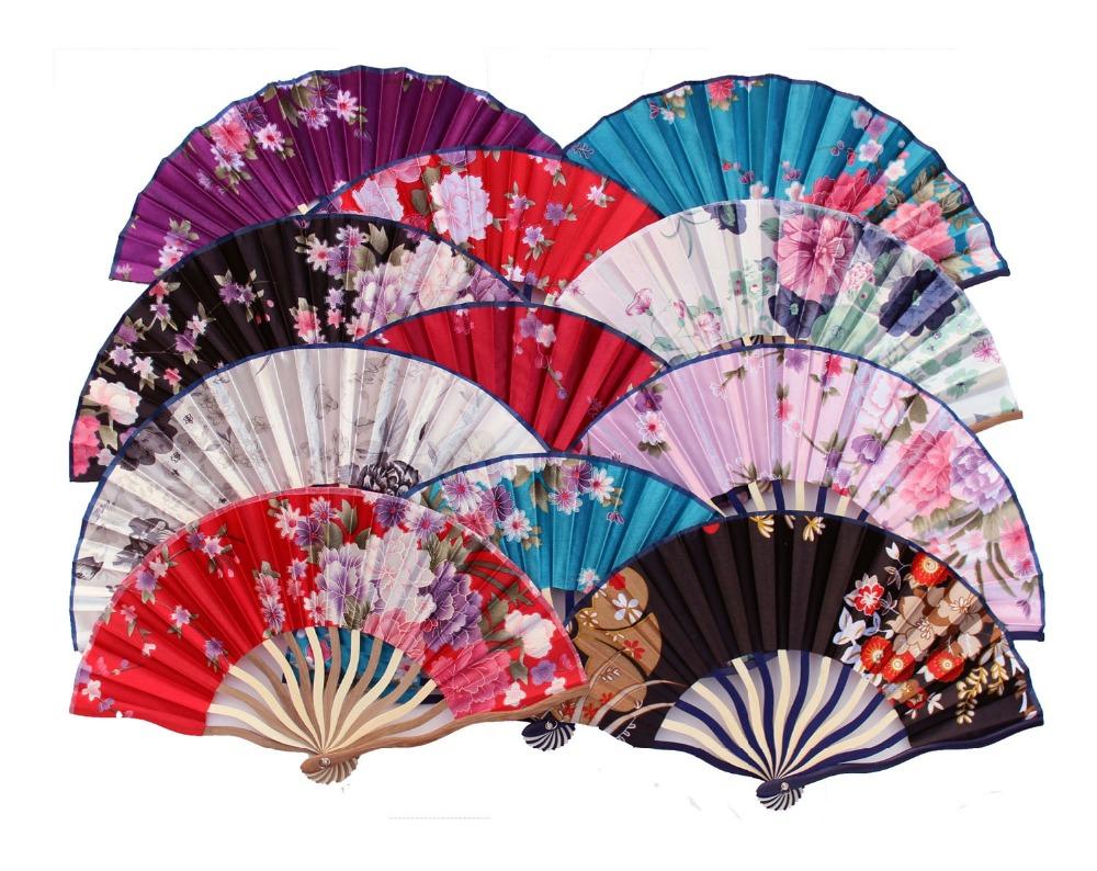 Folding Fan Wedding Favor Dancing Props Print Hand Fan Give Guests