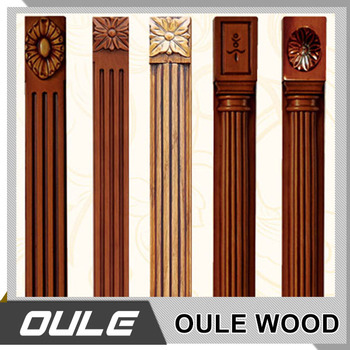 Wood pillar designs home design for Decorative wood columns interior