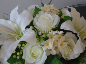 Large silk lighted arrangement with rose and lily for weddings and large silk lighted arrangement with rose and lily for weddings and decorations wedding white flower mightylinksfo
