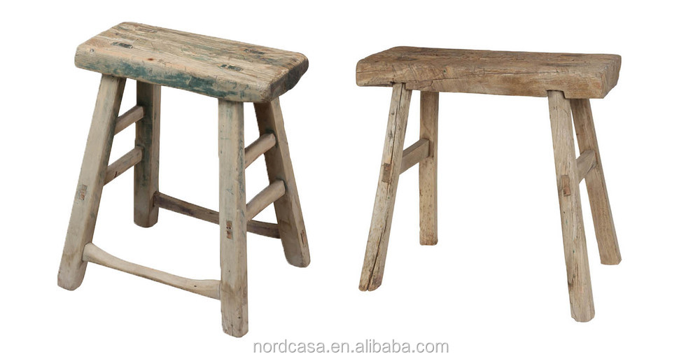 Chinese Antique Square Rustic Wooden Natural Stool Buy