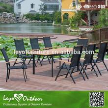 Customized Factory lazy type garden Furniture teak wood dining table set