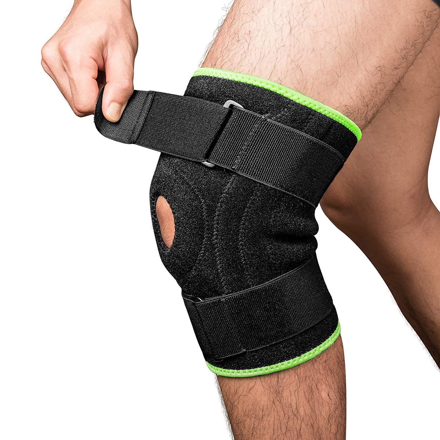 5cb6b20e2c Get Quotations · Knee Brace Support Protector, iSPECLE Open-Patella  Stabilizer Knee Brace for Arthritis, ACL