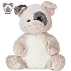 EN71 and CE Standard Pig Plush Toy With Spots Wholesale Cheap Custom OEM Fat Fluffy Soft Stuffed Farm Animal Plush Pig