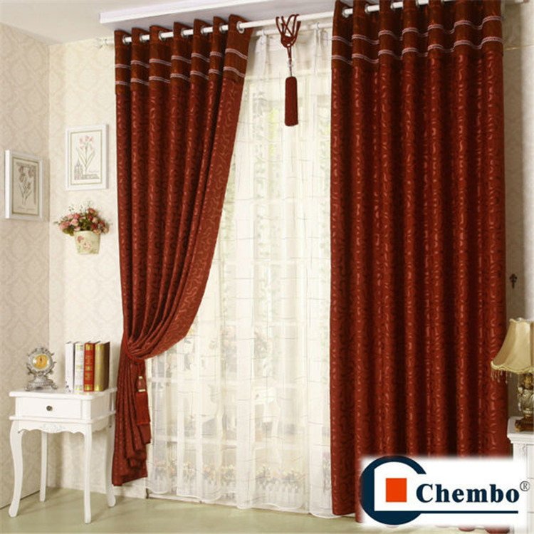 100% polyester jacquard fabric Arabic style curtains sale for ...