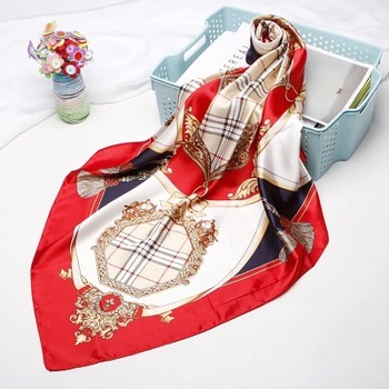 Exquisite printed scarf shawl fashionable silk polyester 90*90cm scarf hijab Muslim women like square scarf  can be customized