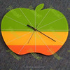 Hanging Colorful Wonderful Acrylic Apple Shape Clock New Design