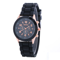 Hot Sale Casual Analog Silicone Band Unisex Geneva Brand Watch