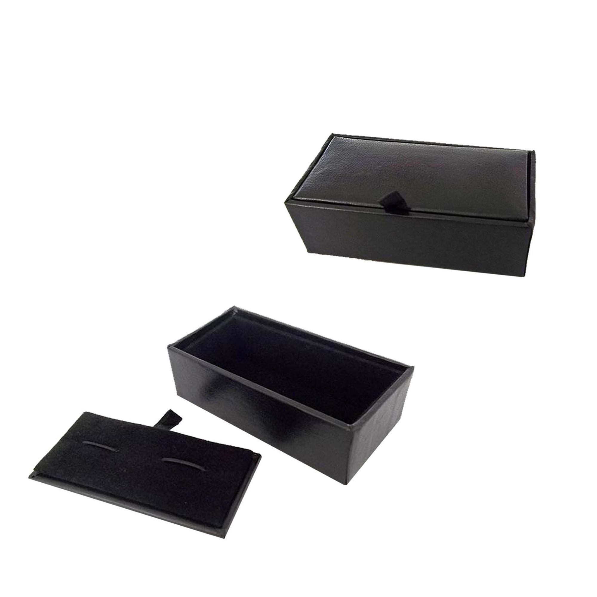Wholesale handmade flip cover leather cufflink gift box