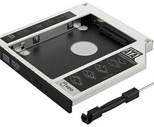 Galoppo secondo Disco Driver Caddy SSD <span class=keywords><strong>sata</strong></span> per 12.7mm DVD-ROM Optical Bay per il Computer Portatile