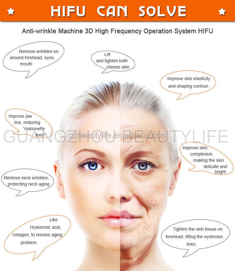 3D HIFU Wajah dan Tubuh Mengangkat Mesin 7 Kartrid untuk Kecantikan Salon/SPA