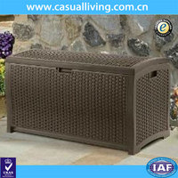 High Quality Wicker Resin Deck Garden Patio Pool Rattan Box Storage