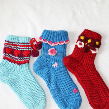 New Cheap Footless Colorful Loom Knitting Happy Socks Women Buy