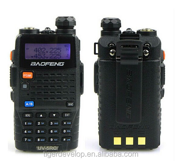 Best price walkie talkie dual band uhf vhf UV-5R 8w with 300mah battery with earpiece baofeng 10w