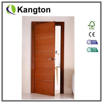 Superbe New Popular Design Of Wood Veneered Interior Door With Groove Designs