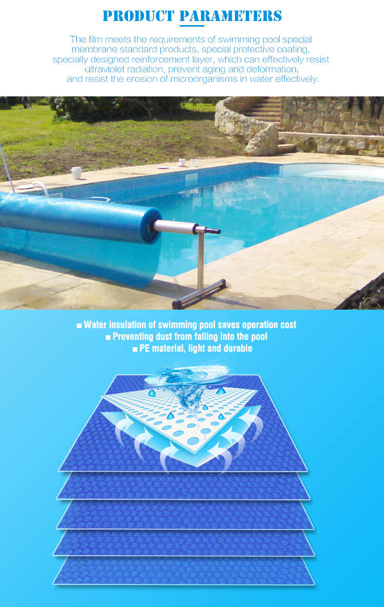 High Quality Automatic Swimming Pool Covers PE Bubble Swimming Pool Cover