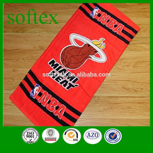 promotional 100% cotton printed bath towel basketball