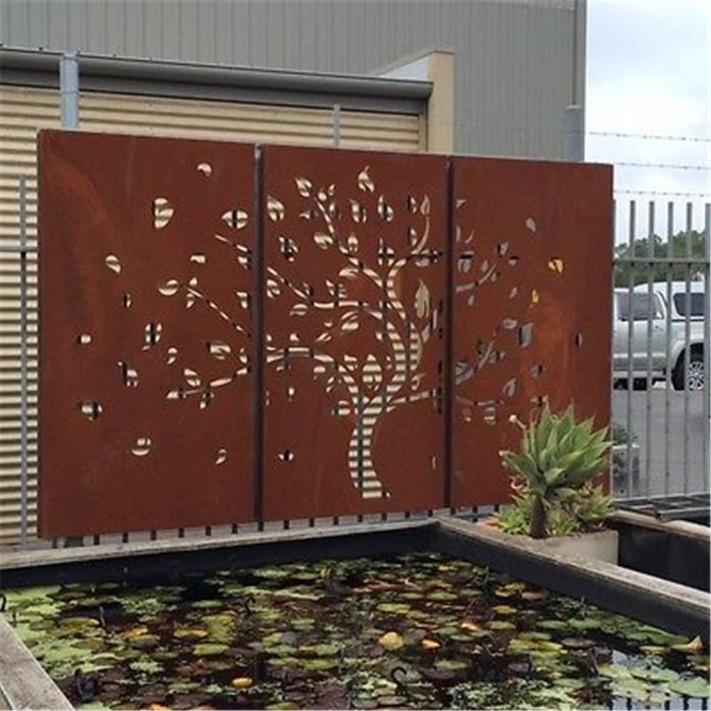Morden Decorative Corten Steel Metal Screen - Buy Morden Design ...