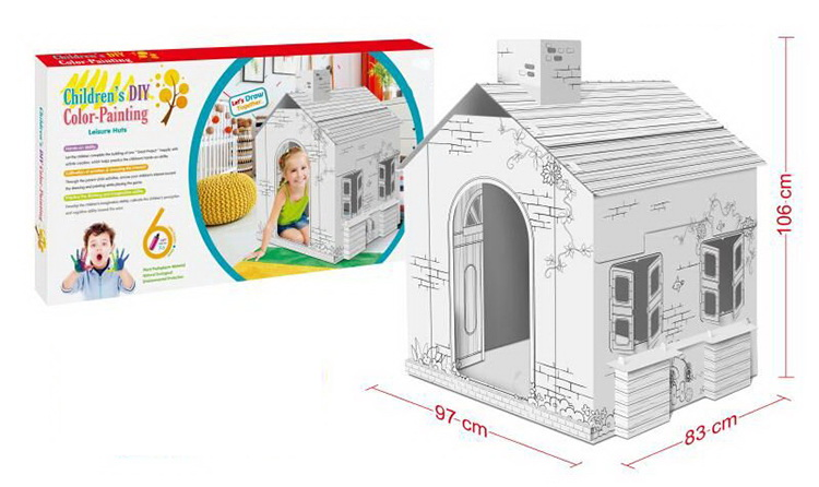 Assemble DIY Painting House For Children