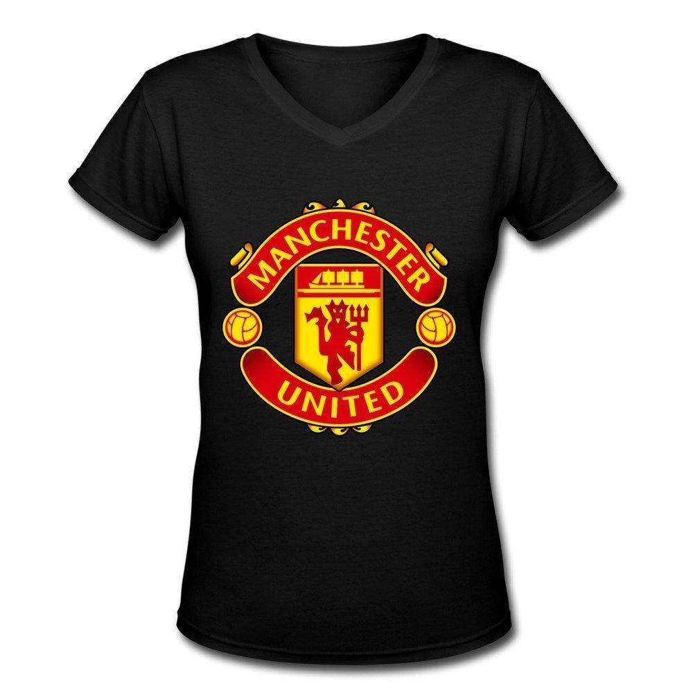Zelura Women's Premier League Manchester United T-shirts Black XXL