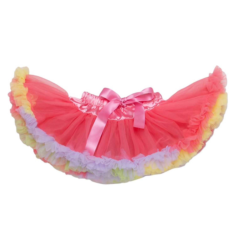 Zhhlinyuan Girls Dots Bowknot Dance Tutus Pettiskirts Age 2-7 years Kids Skirt