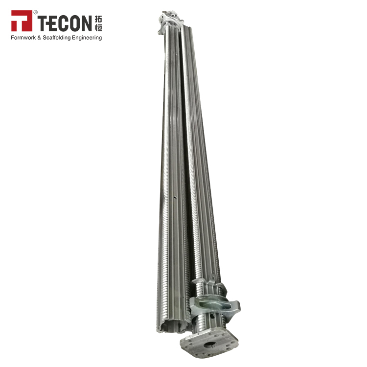 Construction Aluminium Scaffolding Extension Shoring Prop Jack With Powder Coated