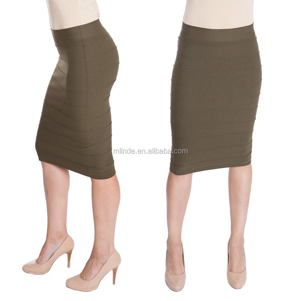 Oem Stretchy Pencil Skirt For Elegant Women Opaque Lightweight ...
