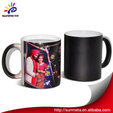 Sunmeta whole sale sublimation matte 11oz color changing magic mug