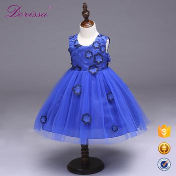 Baby Full Flower Decoration New Design Children Beauty Pageant Party Kids Dresses Spaghetti Drape For