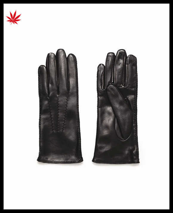 Women's winter warm Driving touch screen Soft genuine Leather Gloves