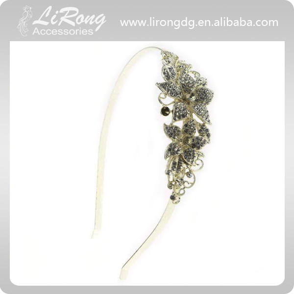 2017 Hot-sales flower shape crystal Metal Hair Accessories,Alloy hair band