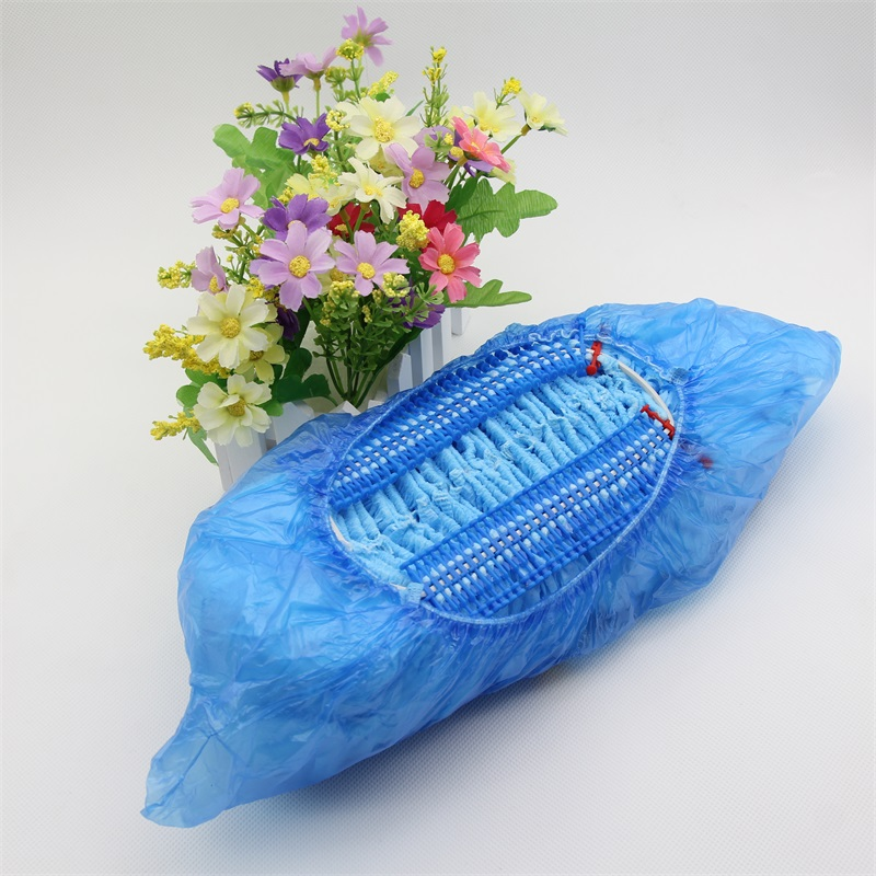 non woven blue pp disposable surgical anti-static nonwoven shoe covers