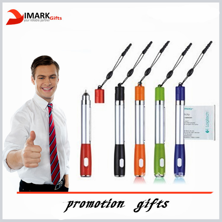 Promotional banner pen with led light