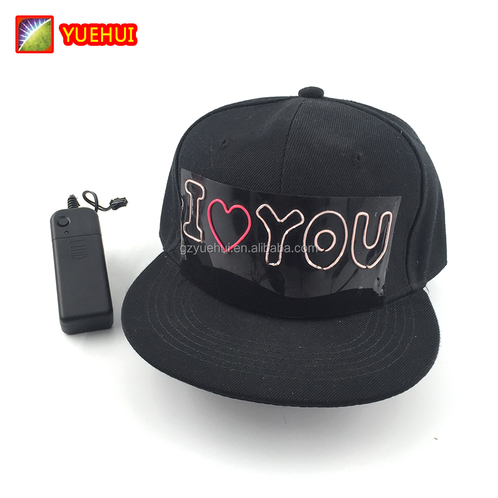 Luminous EL Cold Light Outdoor Sport Cap by DC3V Wedding Supplies Led Baseball Caps Lighting Hat Glow In the Dark Props