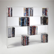 Wall Mounted Acrylic CD DVD Display Racks,Clear /Black Acrylic Shelve