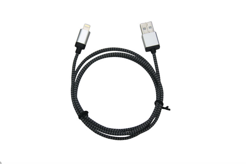 MFi cable nylon braided C48 8pin to usb cable with stock connectors