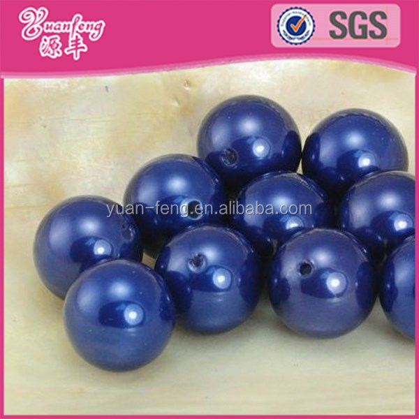 Loose round ball plastic pearl beads for sale in bulk