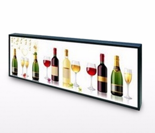 2016 hot new ultra Wide stretched Bar LCD advertising display/ads player LCD commercial Ultra Stretch Screen
