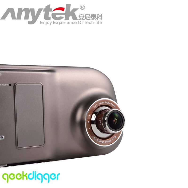 Original Dual-lens Anytek A80 Ultra Thin Novatek 96655 Light Night Vision Rear View Car DVR Driving Recorder Dashcam Novatek