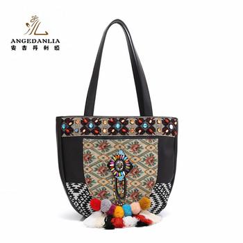 2017 Cotton Ping Bag China Ethnic Embroidery Women S Handbag