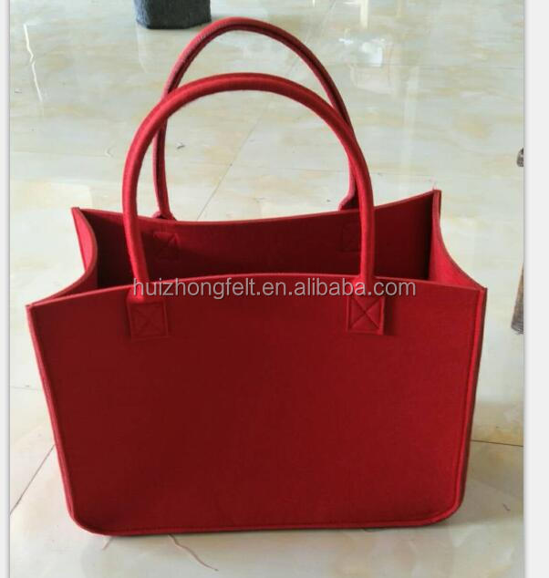 wholesale lady felt handbag with customized logo
