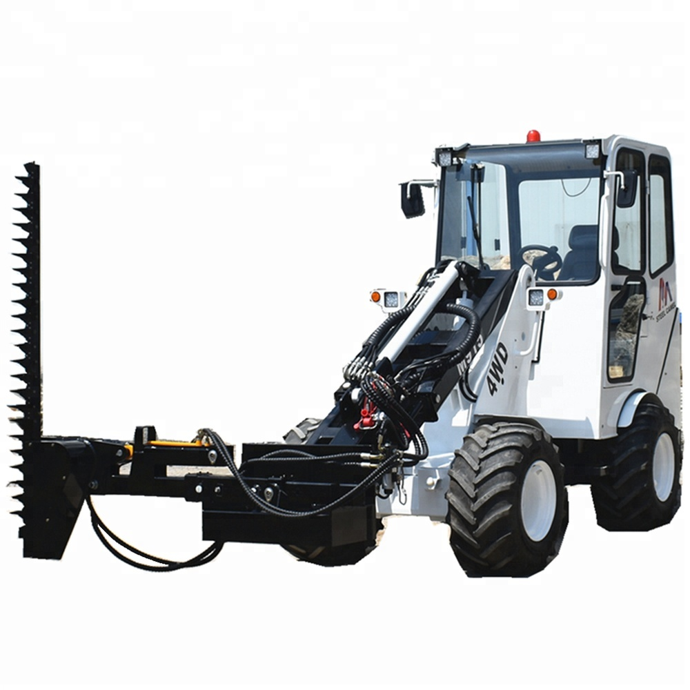 sickle bar mower of 2ton hydrostatic loader tractor for sale