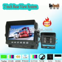 Waterproof Camera 7 inch Monitor wired backup camera system