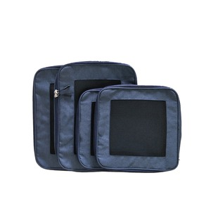customized 4 sets compression packing cubes travel bag organizer compression travel packing cubes for travel