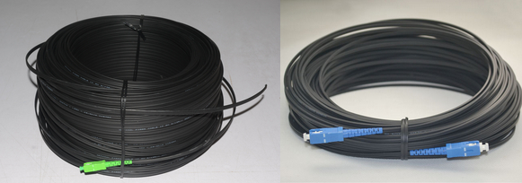 G657A G652D SC APC UPC simplex duplex FTTH fiber optic flat drop patch cable