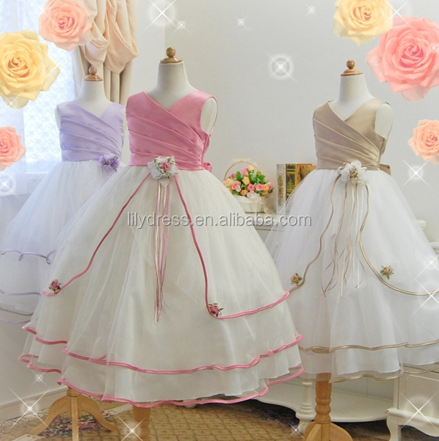 A-Line Ball Gown Girl Dress Wholesale Hot Sale Customized Kids Dress FGZ37 Flower Girl Dresses For Girls Of 10 Years