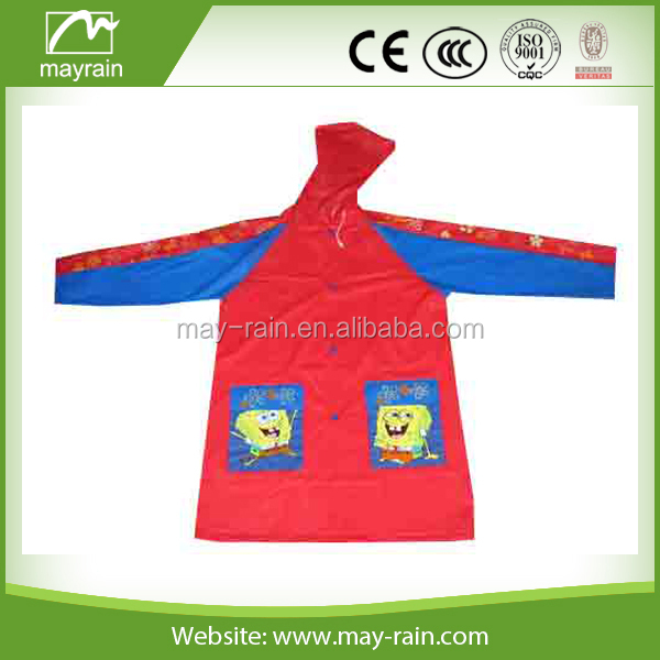 wholesale Kid rainponcho and raincoat rainwear customized promotional children raincoat