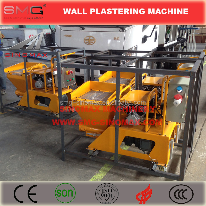 Top For Wall Wet Cement Mortar Plastering Machine