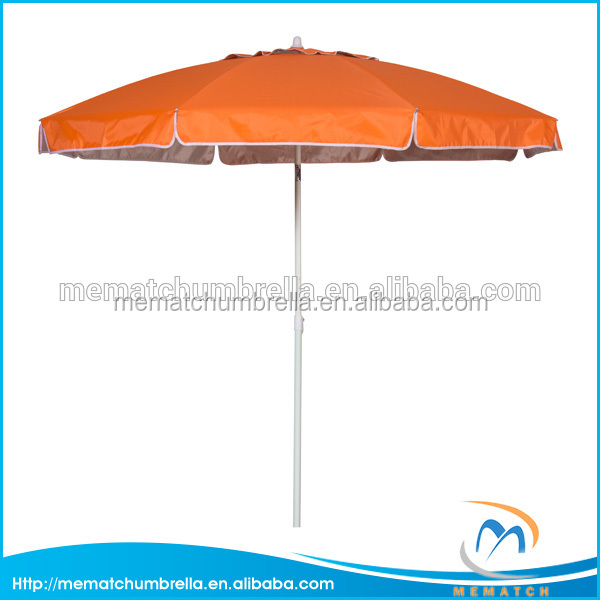 1.8M outdoor use windproof umbrella with air-vent metal tilt Anti-UV silver coated promotional beach umbrella
